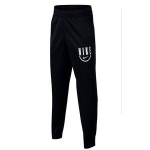 Boy's Black Nike Logo Dri-Fit Basketball Spotlight Jogger Pants Size XL